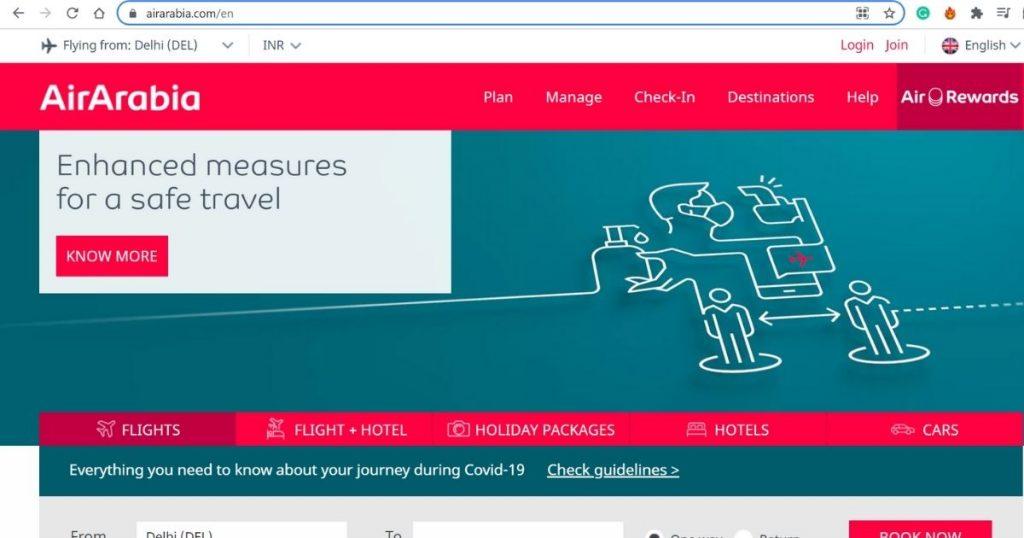 Air Arabia Website