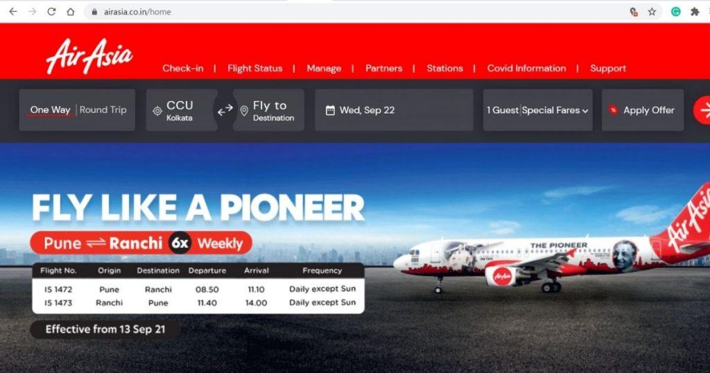 AirAsia Official Website