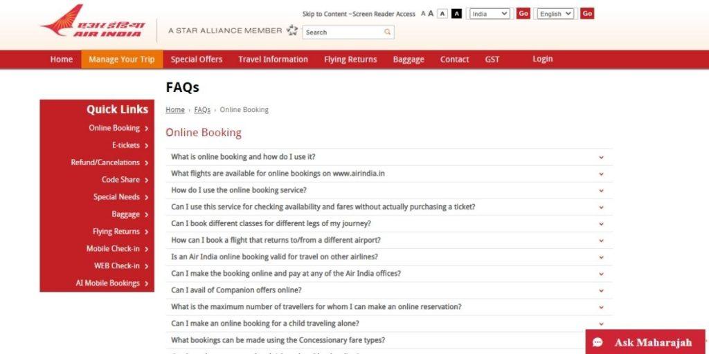 Air India FAQs