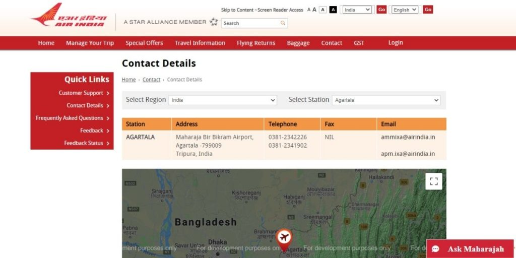 Air India Customer Care