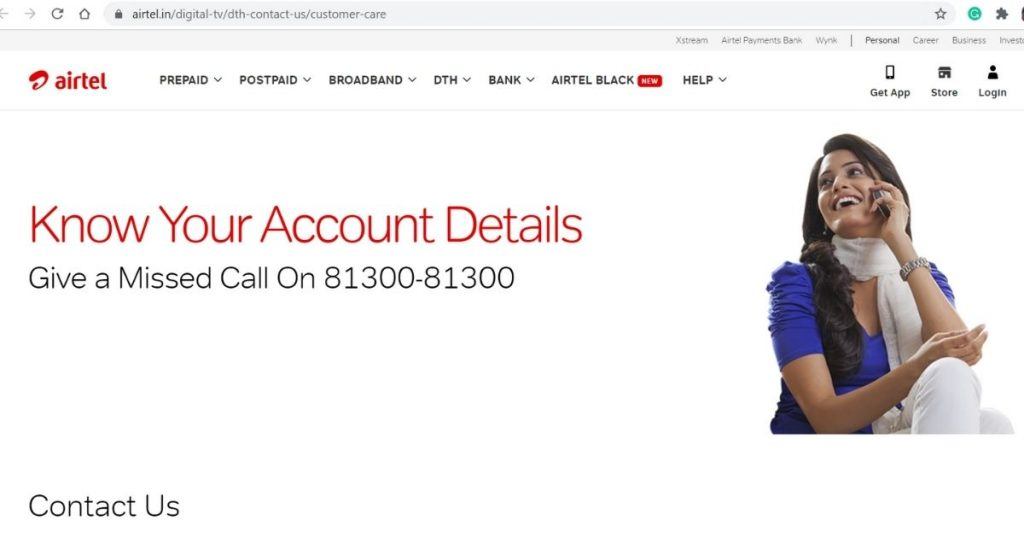 Airtel DTH Official Website