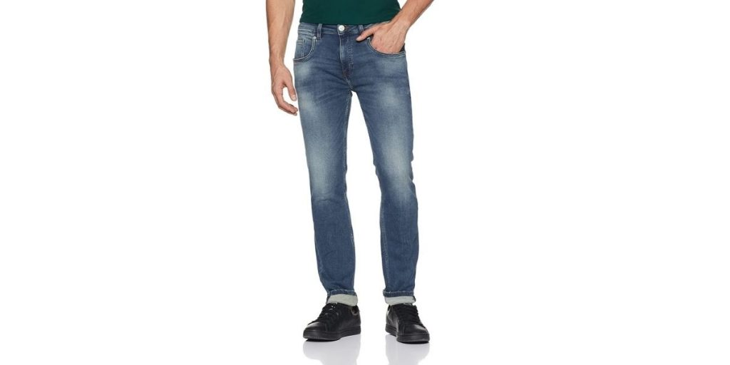 Ed Hardy Blue Washed Slim Fit Jeans