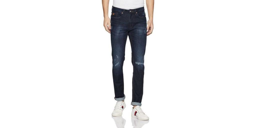 Ed Hardy Men's Super Slim Fit Distressed Jeans
