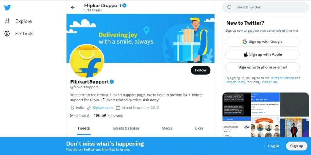 Flipkart Twitter