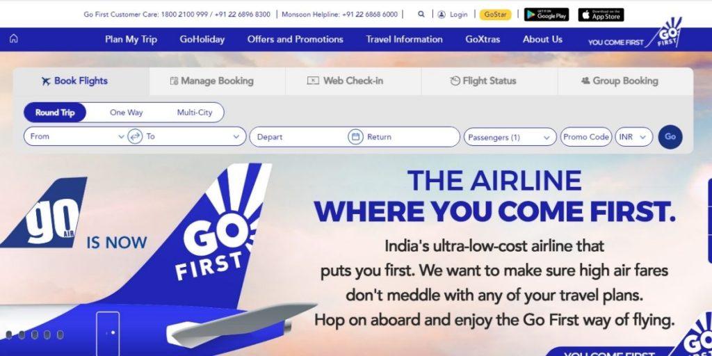 Go First Website