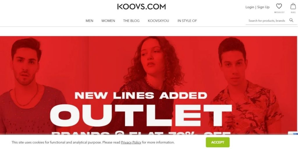 Koovs Website