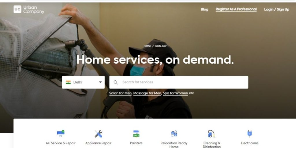 Urban Company Website