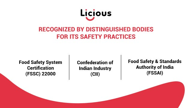 Licious safety certifications