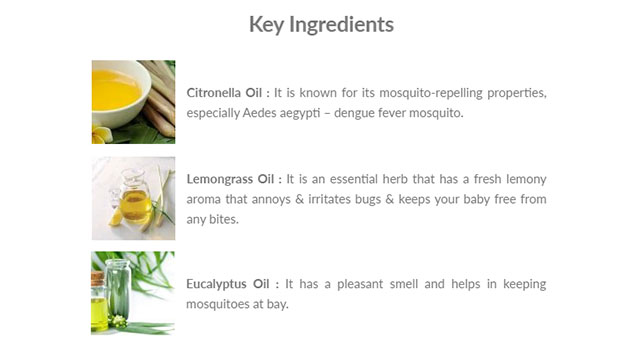 Anti-Mosquito Fabric Roll-On Key Ingredients