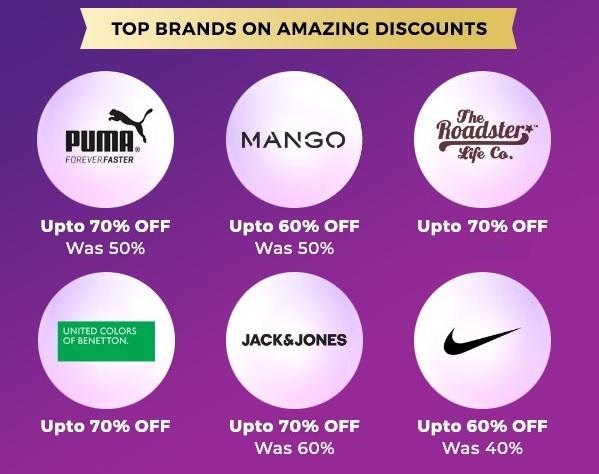 Myntra Top Brands