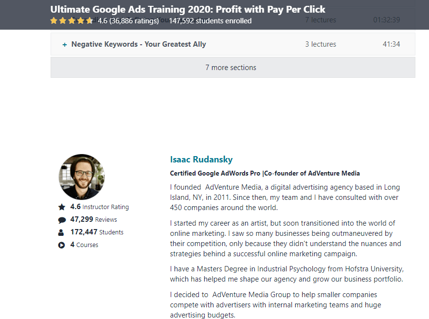 About Google Adwords Course Teacher