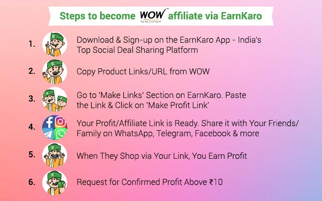 Steps to Become a WOW affiliate