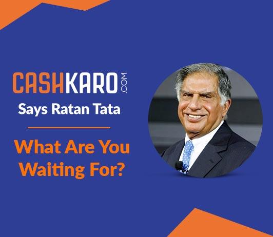 CashKaro, says Ratan Tata