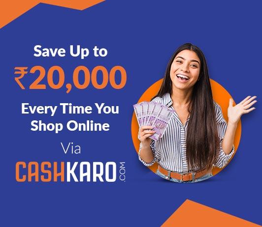 Save everytime you shop via Cashkaro