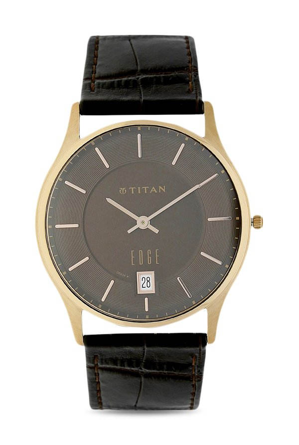 Titan Edge NK1683WL01A Black Dial Analog Men's Watch (NK1683WL01A)