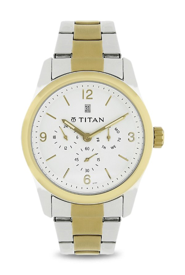 Titan NK9493BM01 White Analog Men's Watch (NK9493BM01)