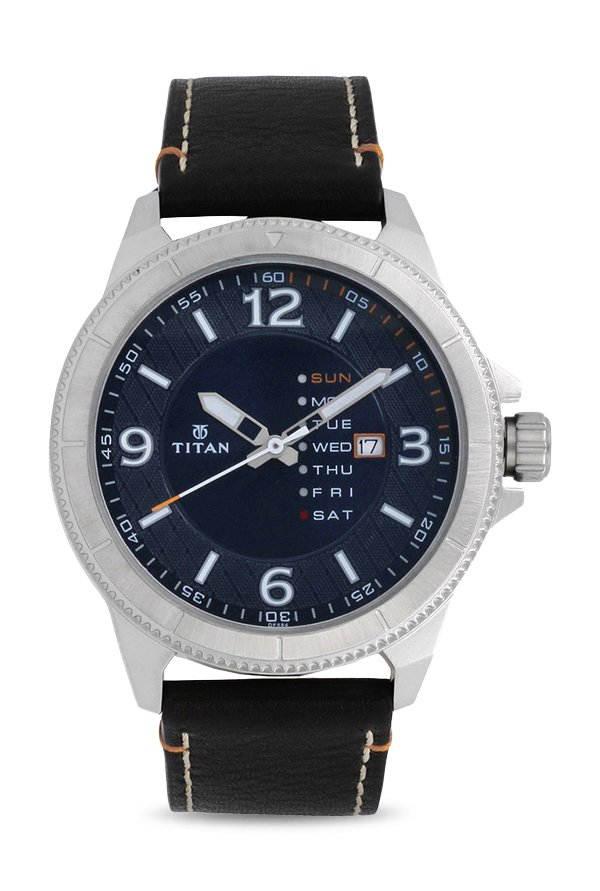 Titan Purple NJ1701SL01 Steel Blue Dial Analog Men's Watch (NJ1701SL01)