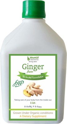 Bhumija Lifesciences Ginger Juice (Sugar Free) Energy Drink, 1 L