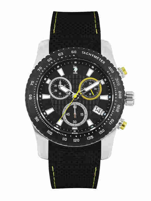 U.S. Polo Assn. USAT0121 Silicone Strap Chronograph Watch (USAT0121)