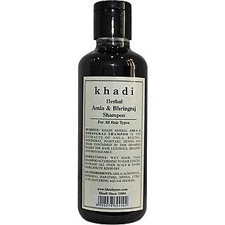 Khadi Herbal Amla and Bhringraj Shampoo 210ml