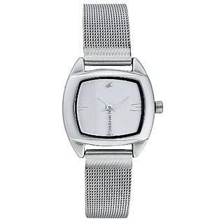 Fastrack 6001SM01 Analog White Dial Women's Watch (6001SM01)