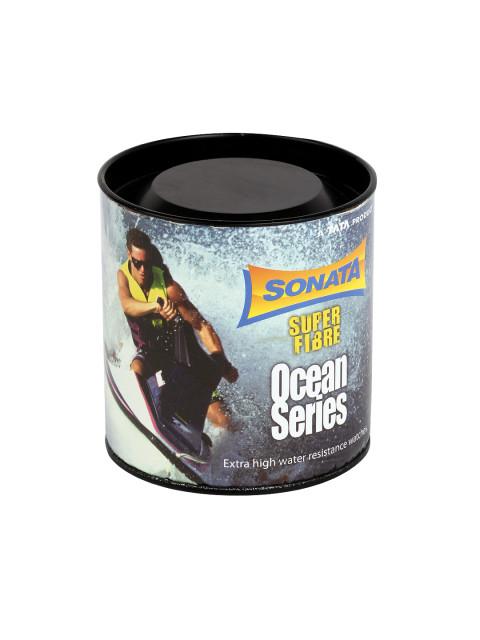 Sonata 77029PP03J Ocean Series Black Dial Men's Watch