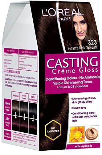 Lorreal Paris Casting Creme Gloss Hair Color - Sonam's Dark Chocolate 323, 160gms