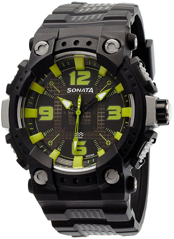 Sonata 77014PP03 Ocean Series Analog Multi Colour Dial Men's Watch (77014PP03)