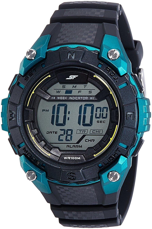 Sonata 77054PP01 Ocean Series Black Digital Men's Watch (77054PP01)