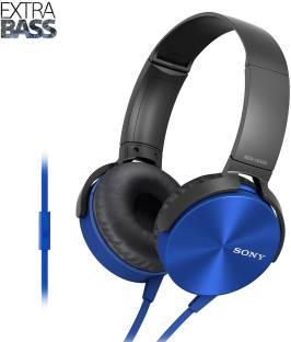 Sony MDR-XB450 Extra Bass Smartphone Heatset, Blue