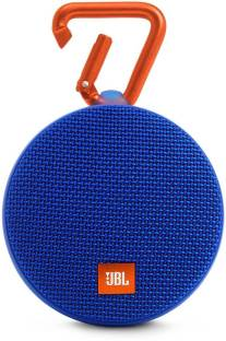 JBL Clip 2 Portable Wireless With Mic Bluetooth Speaker, Blue