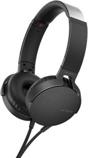 Sony MDR-XB550AP On-Ear Extra Bass Headphones, Black