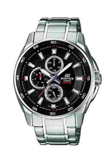 Casio Edifice EF-334D-1AVDF (ED420) Analog Black Dial Men's Watch (EF-334D-1AVDF (ED420))