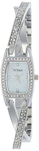 Titan Purple NF9851SM01 Analog White Dial Women's Watch (NF9851SM01)