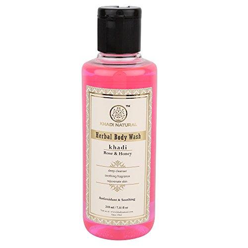 Khadi Herbal Rose and Honey Body Wash, 210ml