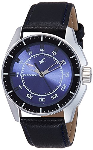 Fastrack NK3089SL01 Blue Dial Analog Men's Watch (NK3089SL01)