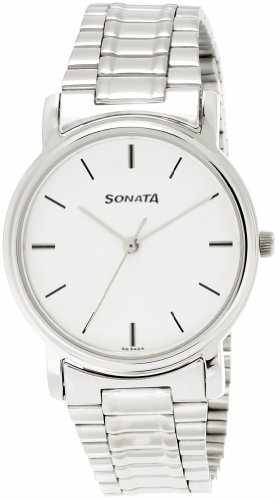 Sonata ND1013SM01C Analog White Dial Men's Watch (ND1013SM01C)