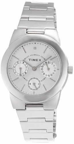 Timex J103 E Class Analog Silver Dial Women's Watch (J103)
