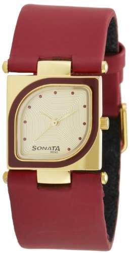 Sonata ND8919YL04AC Yuva Analog Gold Dial Women's Watch (ND8919YL04AC)