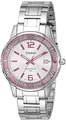Casio Enticer LTP-1359D-4AVDF (A809) Analog Silver Dial Women's Watch (LTP-1359D-4AVDF (A809))