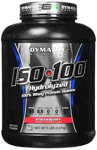 Dymatize Iso 100 Whey Protein (2.27Kg, Strawberry)