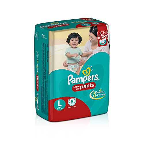 Pampers Pants Style L Diapers (8 Pieces)