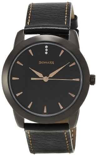 Sonata NF7924NL01C Analog Black Dial Men's Watch (NF7924NL01C)