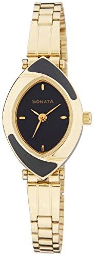 Sonata NK8069YM04 Black Dial Analog Women's Watch (NK8069YM04)