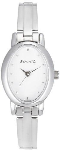 Sonata 8100SM01C Analog White Dial Women's Watch (8100SM01C)