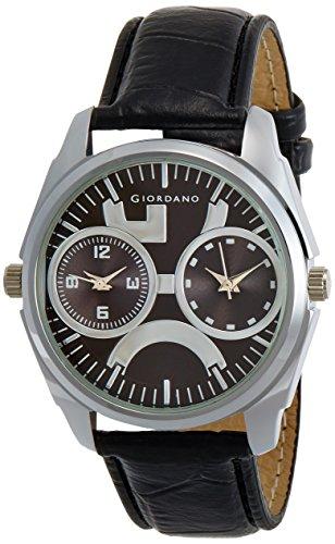 Giordano 60060 Black Dial Analog Men's Watch (60060)