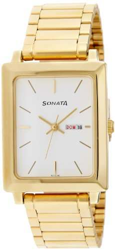 Sonata NG7078YM03 Analog White Dial Men's Watch (NG7078YM03)