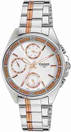 Casio Enticer LTP-2086RG-7AVDF (A857) Silver Dial Women's Watch (LTP-2086RG-7AVDF (A857))