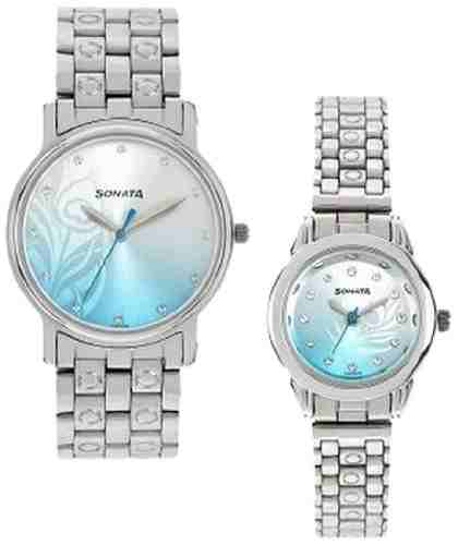 Sonata NH10138925SM01C Analog Multi Colour Dial Couple Watch (NH10138925SM01C)