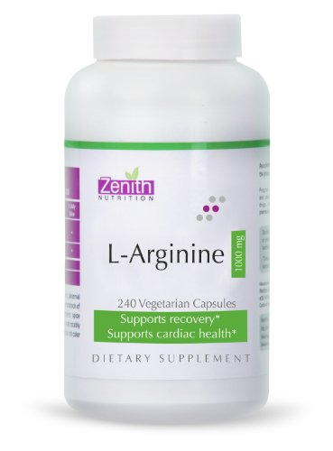 Zenith Nutrition L-Arginine - 1000mg, 120capsules 60 Servings